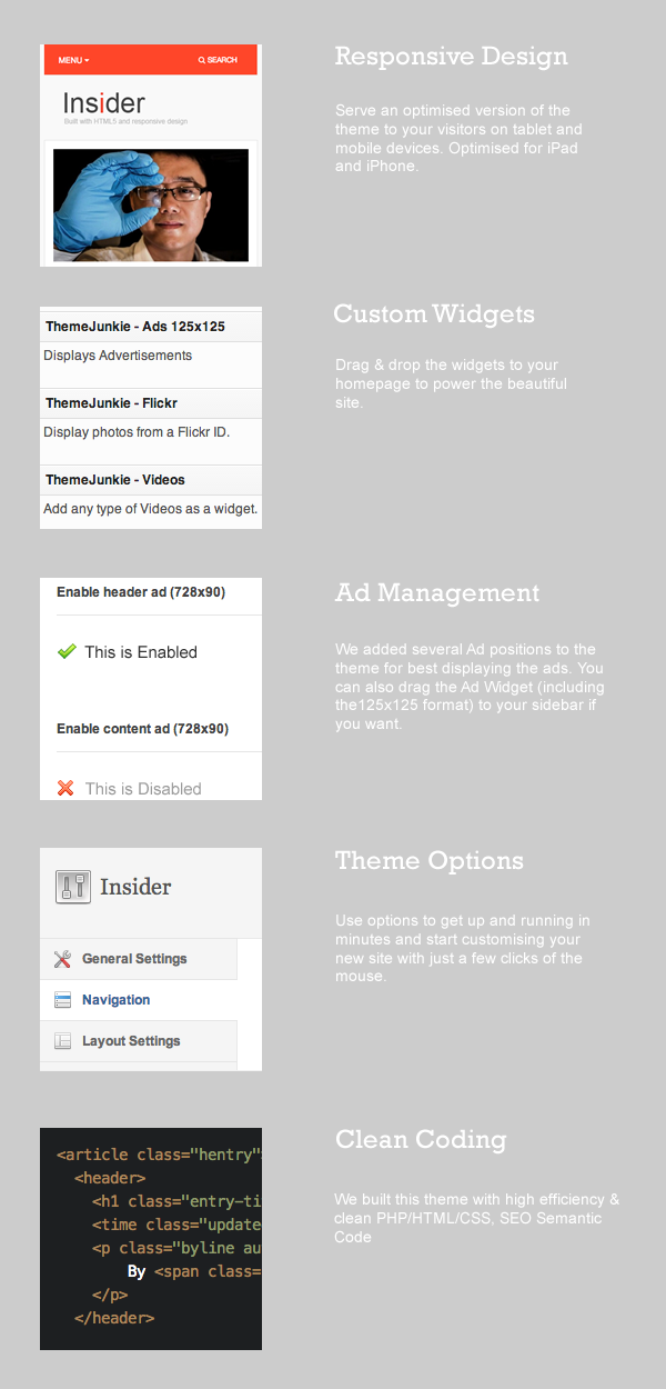 Insider WordPress Theme