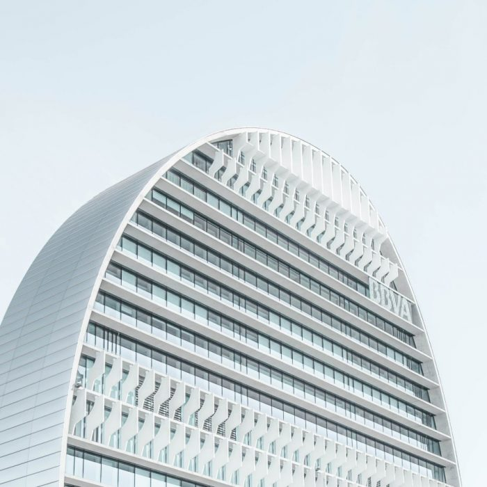A Modern Skyscraper With a Rounded