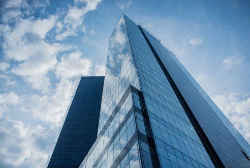 A Modern Skyscraper in the City