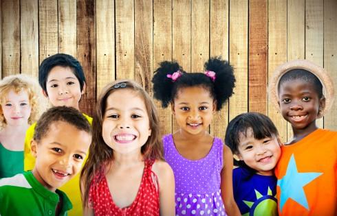 Diversity Children Friendship Innocence Smiling