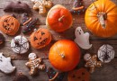 Beautiful gingerbread and fresh pumpkin on the table