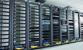 Network server room with computers