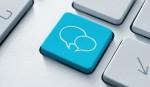 Social media key with two speech bubble