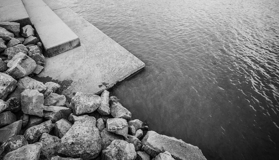 Lake Shore with Rocks