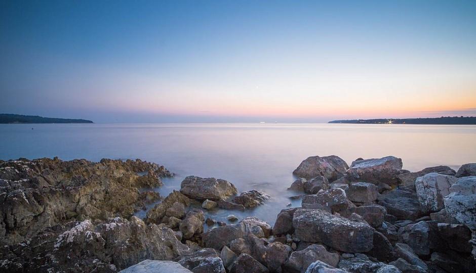 Seaside Rocks Sunset