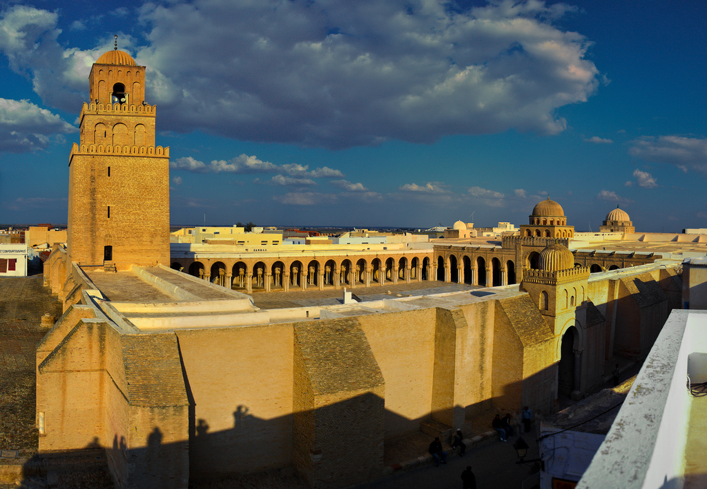 """Kairouan Mosque Stitched Panorama"" by MAREK SZAREJKO - Wikipedia"